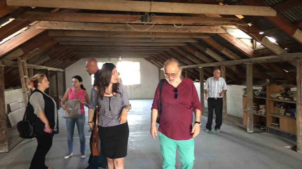 Ketevan Abashidze and Mika Danielyan explore the premises for Human Rights House Yerevan