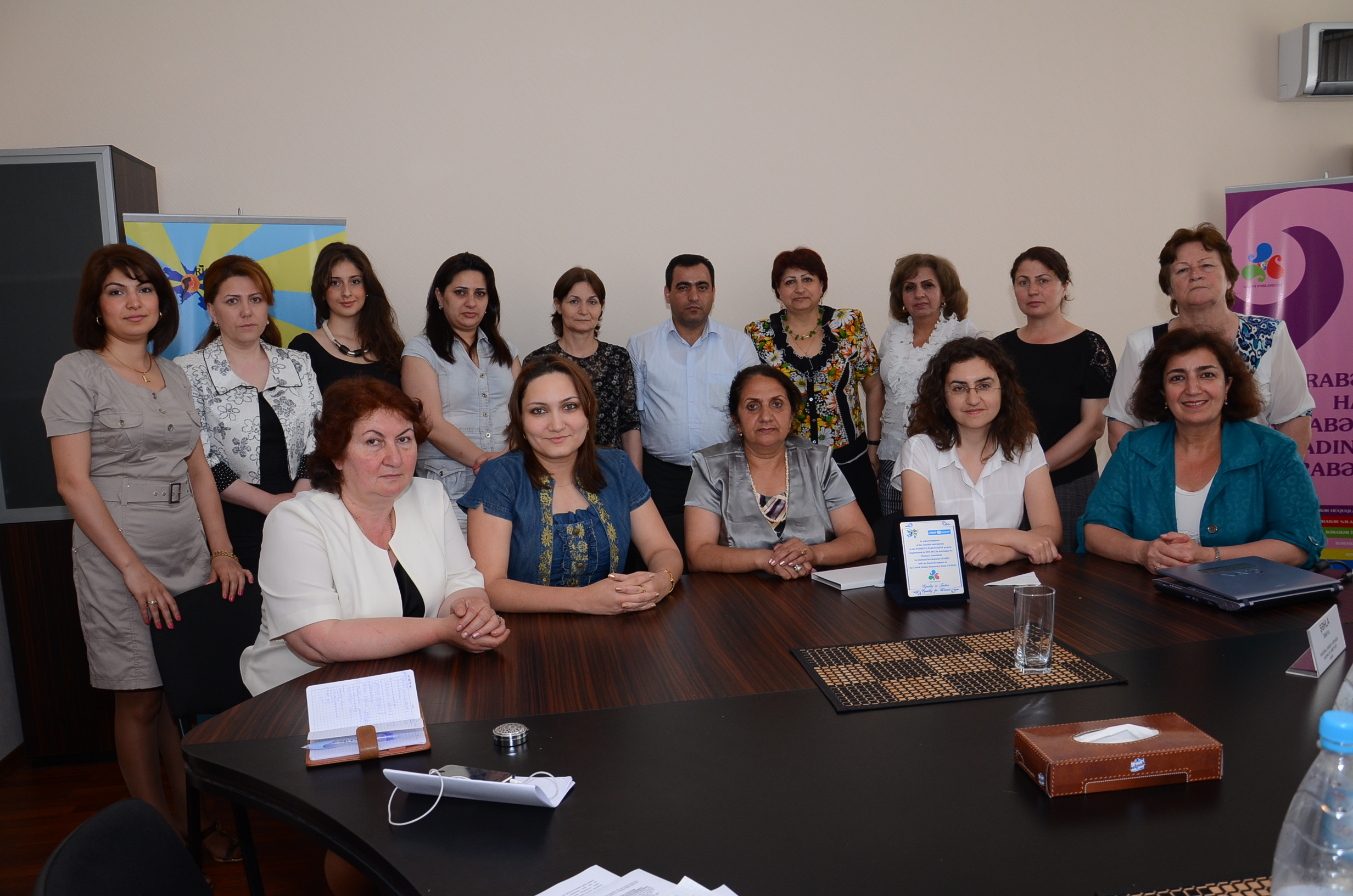 2011, Baku, Women's Parliament of WARD after a plenary.
