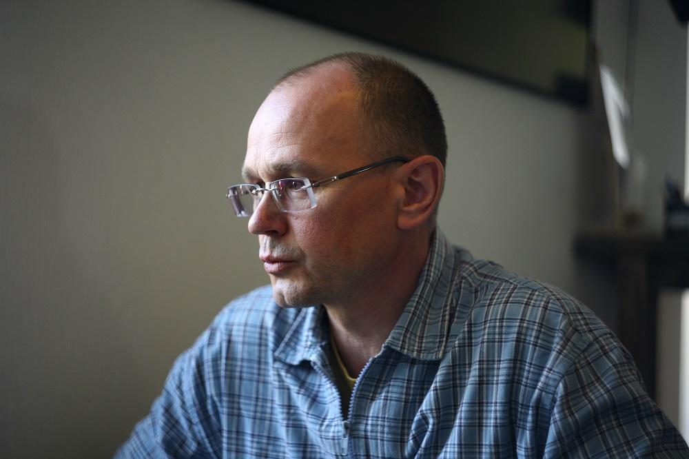 Алег Мацкевіч. Фота Яўгеніі Стрыжак