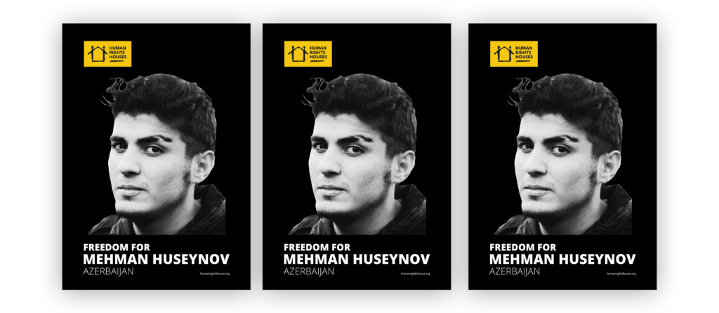"Our ""Freedom for Mehman Huseynov"" poster can be downloaded for online use and for print."