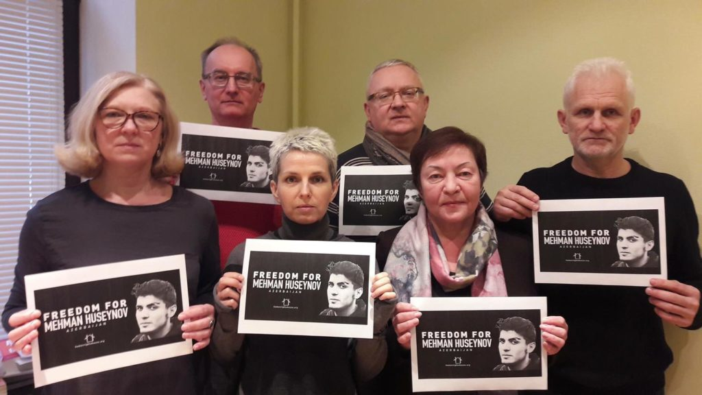 Barys Zvozskau Belarusian Human Rights House calls for the release of Mehman Huseynov