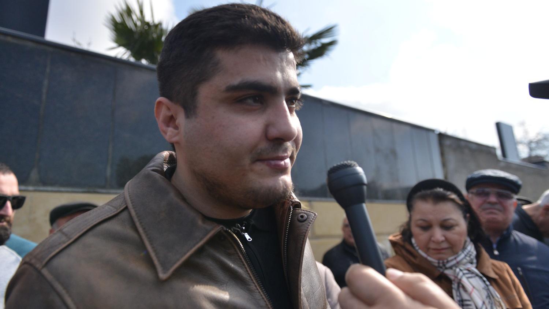 Mehman Huseynov released on 2 March 2019. Photo: Turan