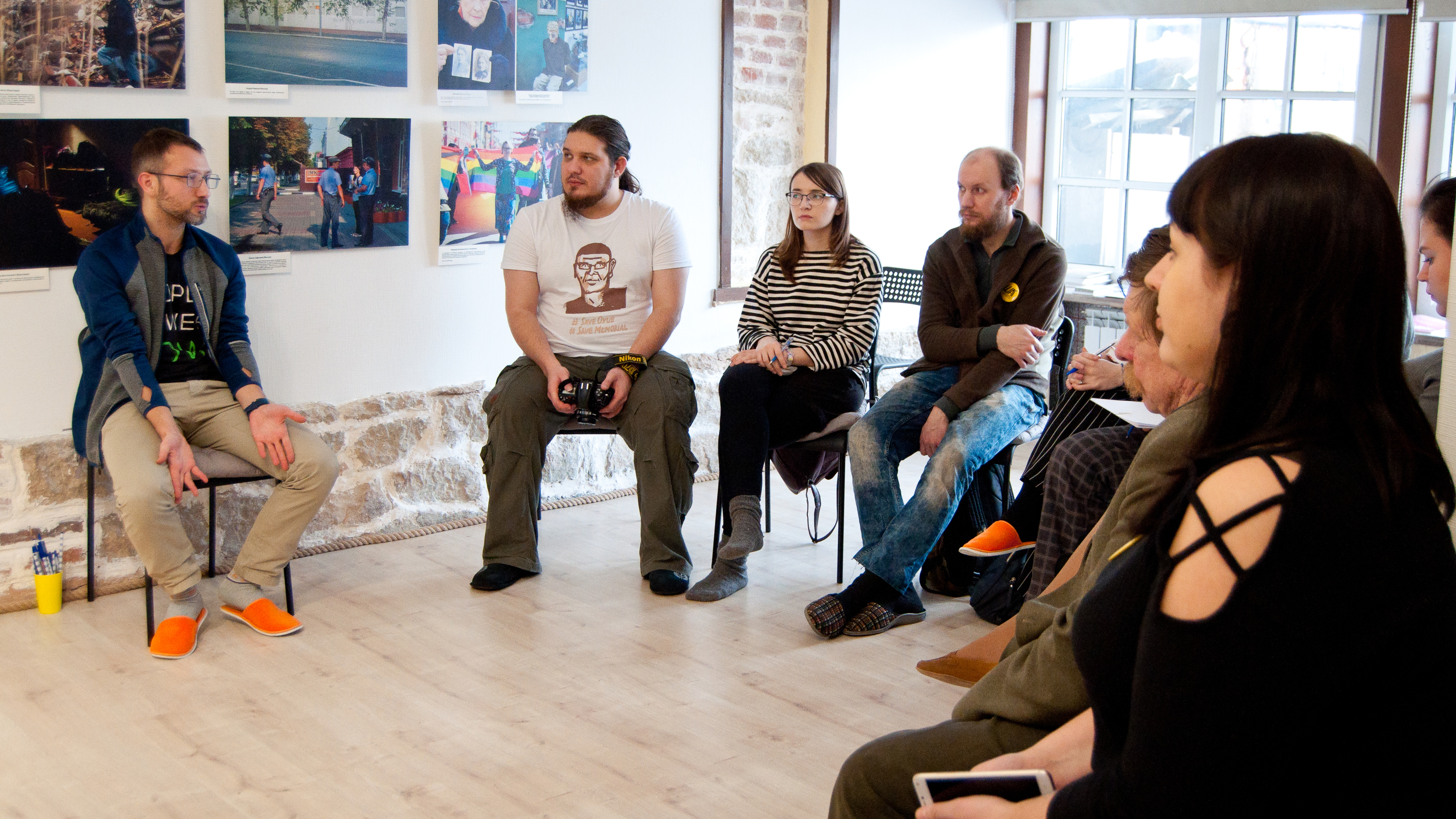 Discussions on modern ecological movements.Copyright: Human Rights House Voronezh