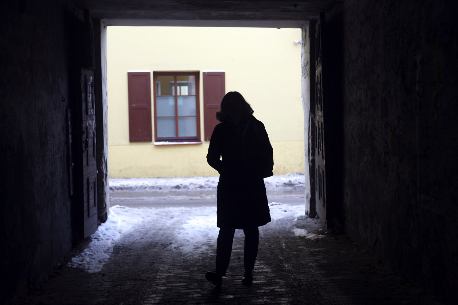 Reviaka in the backyard of the Belarusian Human Rights House in Vilnius. December 2018 Photo: Yauheniya Stryzhak / Barys Zvozskau Belarusian Human Rights House