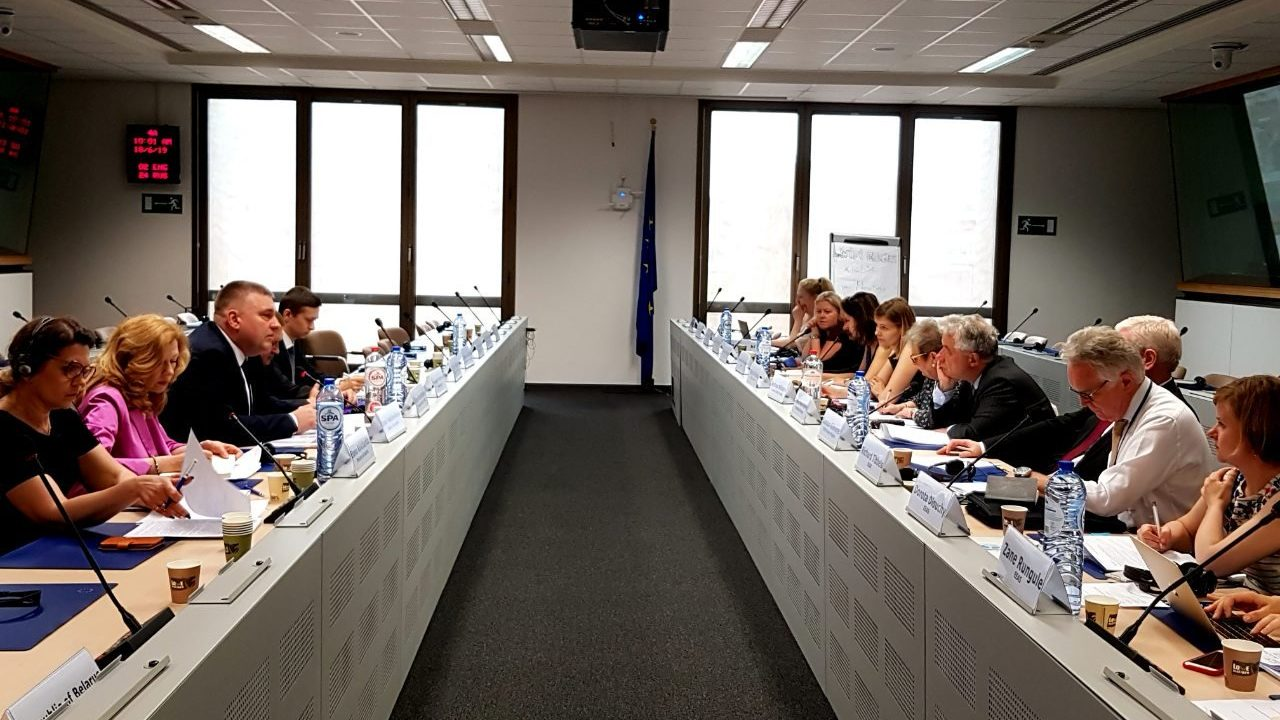 Belarus and the European Union held the 6th round of dialogue on human rights in Brussels on June 18. Photo: Embassy of Belarus in Belgium.